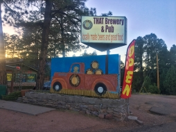 locally made beers & food in Pine, Arizona